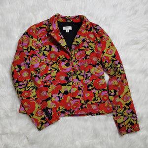 Isaac Mizrahi Target Flower Pattern Short Blazer